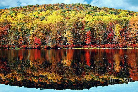 Seven Lakes Autumn Reflections  by Daniel Portalatin Photography