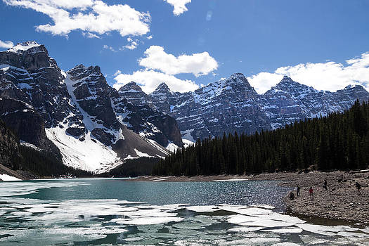 Seven Sisters at Moraine Lake by Angela Boyko