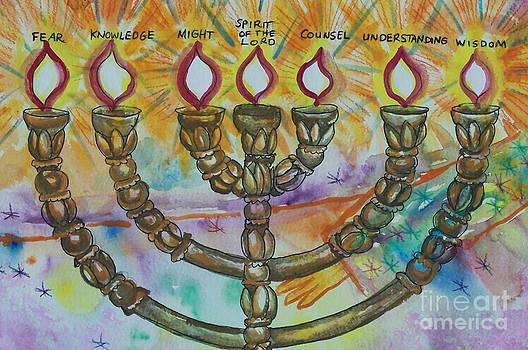 Anne Cameron Cutri - Seven Spirits of God Candlestick detail