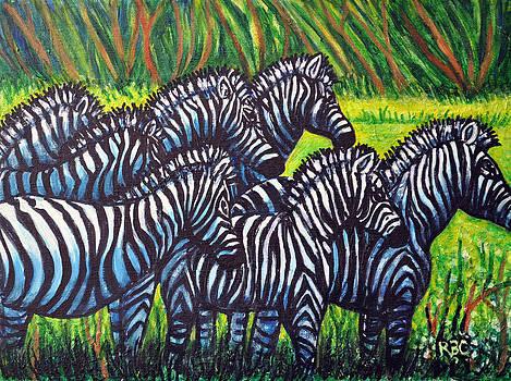 Seven Zebras by Bob Crawford