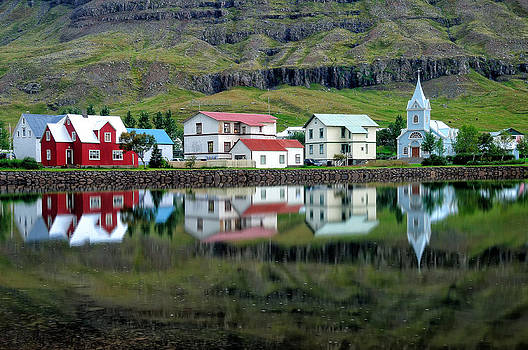 Seydisfjordur Reflection by Jordan Lye
