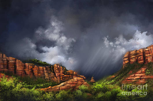 Thunderstorm in Sedona by S G