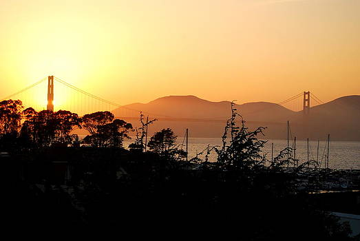 SF Sunset by Mamie Gunning