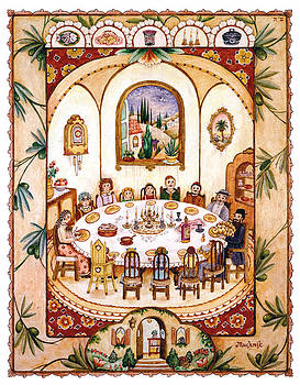 Shabbat Table by Michoel Muchnik
