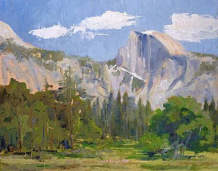 Shadow Over Half Dome by Sharon Weaver