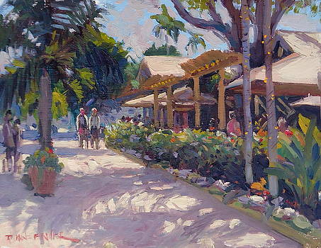 Shadows Play at Tommy Bahamas by Dianne Panarelli Miller