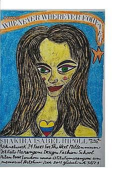 Shakira Isabel Ripoll by Francesco Martin