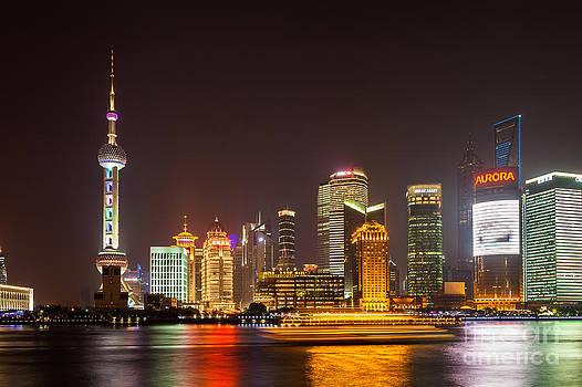 Fototrav Print - Shanghai night city skyline