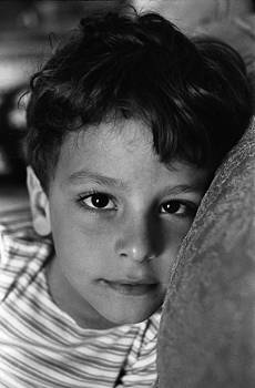 Sharp Eyes-Portrait in Black and White by Thomas D McManus