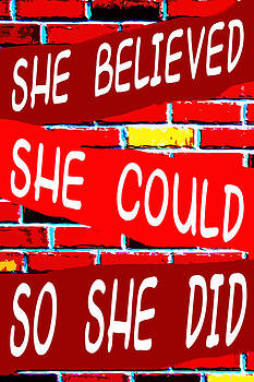 She Believed She Could So She Did by John Novis