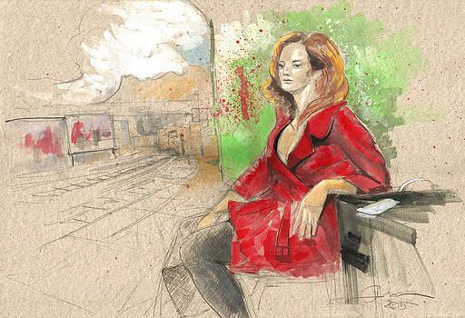 She is waitin Red Train by Ertan Aktas