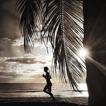 She runs the beach by Andrew Royston