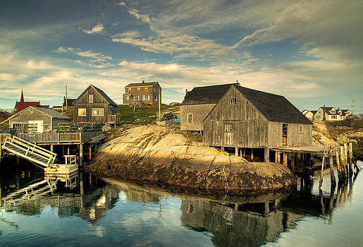 Sheds at Peggy's Cove by Rob Huntley