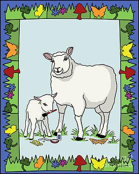 Sheep Artist Sheep Art II by Audra D Lemke