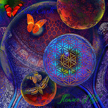 Sheikh Lutfollah Mosque flower by Joseph Mosley