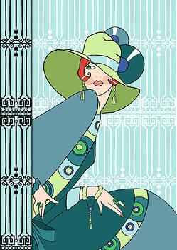 Nancy Lorene - SHELBY in Aqua and Teal