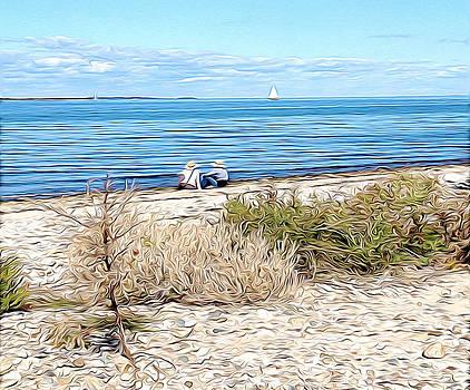 Shelter Island Beach by Meghan OHare