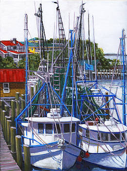 Shem Creek Shrimp Boats by Thomas Michael Meddaugh