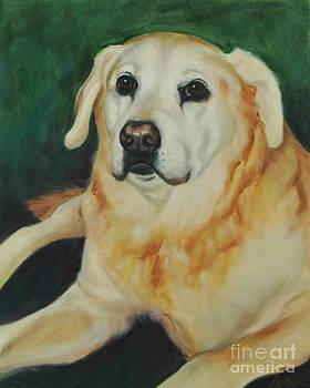 Shiloh the Yellow Lab by Pet Whimsy  Portraits