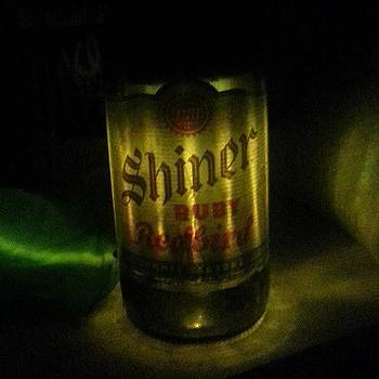 Shiner Beer Rechargeable Solar Lamp by Paul Wesson