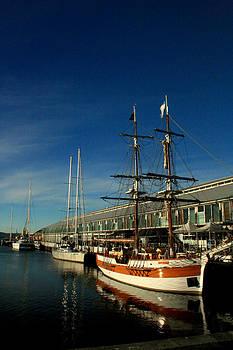 Ship at Somerset Pier by Michael Creamer