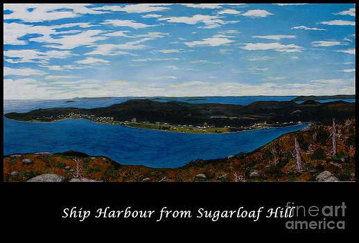 Barbara Griffin - Ship Harbour from Sugarloaf Hill - Historic Town - Atlantic Charter