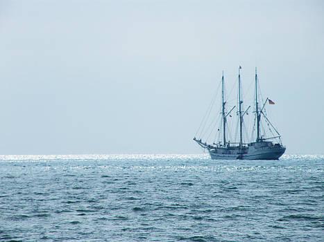 Ship on The Ocean by Moya Moon