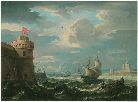 Pieter Mulier - Shipping in a Stiff Breeze in an Estuary