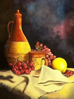 Shiraz Wine by Ida Yavari