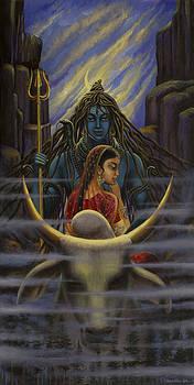 Vrindavan Das - Shiva Parvati. Night in Himalayas