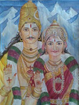 Shiva Parvati by Parimala Devi Namasivayam