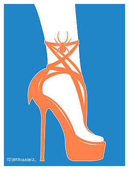 Shoe with Spider by Ed Hernandez