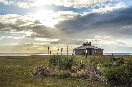 Shore Acres Observatory at Sunset by Kristal Talbot