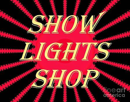 Show Lights Shop business sign sample by Thomas Smith
