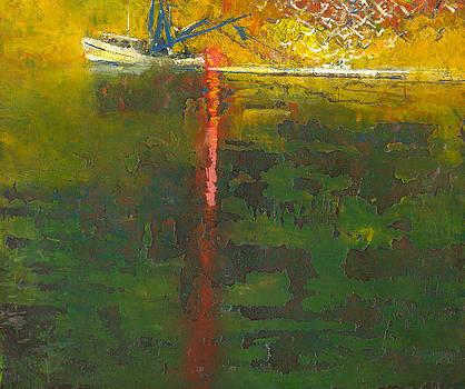 Shrimp Boat at Sunset by Daniel Bonnell