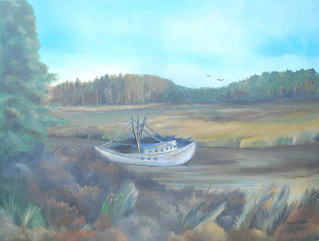 Shrimp boat by Dawn Nickel