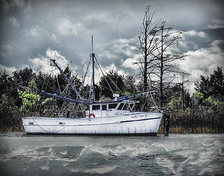 Terry Shoemaker - Shrimp Boat with reflection