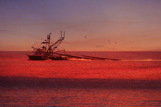 Shrimpboat and Sunrise by Jim Ziemer