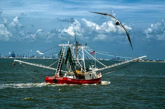 Shrimper in Gulf of Mexico by Kelly Kitchens