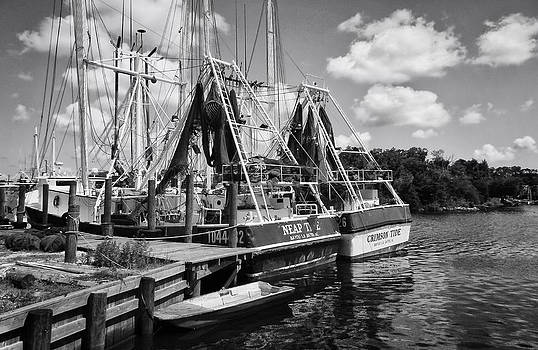 Shrimpin boats by Ben Shields