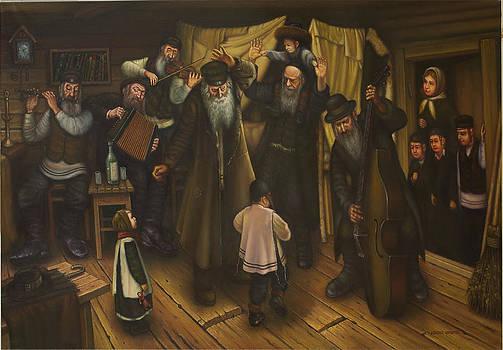Shtetl Mezhirich. Klezmers. Birthday Grandfather. by Eduard Gurevich