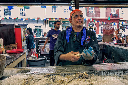 Kathleen K Parker - Shucking Oysters in the French Quarter