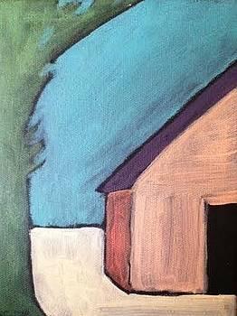 Shy Pink Barn by Molly Fisk