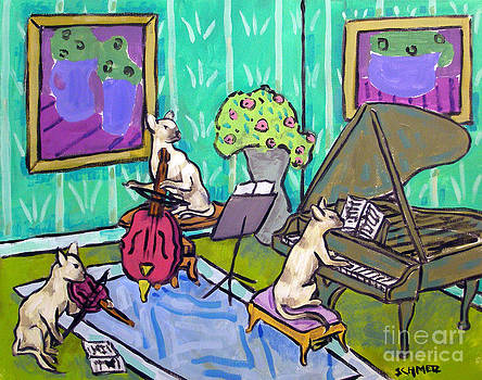 Siamese Cat Trio by Jay  Schmetz