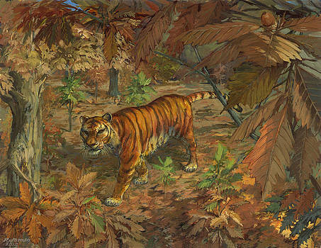 Siberian Tiger by ACE Coinage painting by Michael Rothman