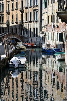 Side Canal Venice by Bill Mock