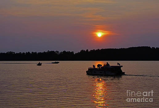 Side Lake MN Sunset  by Tina Hailey
