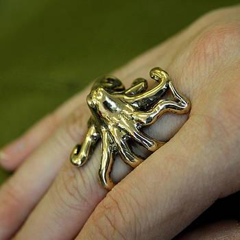 Sideways Octopus Ring by Michael  Doyle