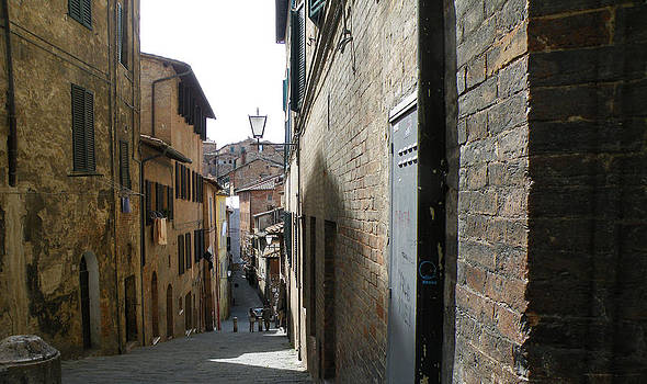 Siena Street Scene by Judith Sweeney