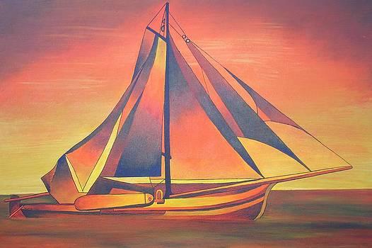 Tracey Harrington-Simpson - Sienna Sails At Sunset